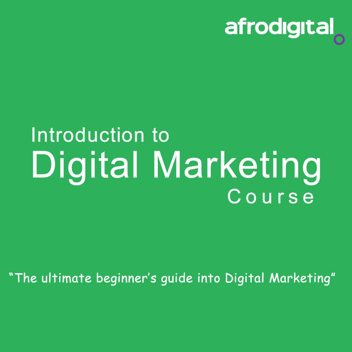 Products afrodigital skills training for Digital marketing materials